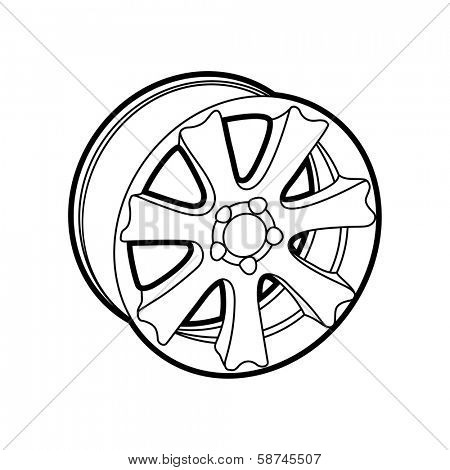 wheel on white