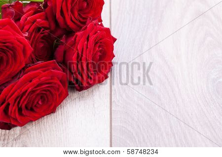 Beautiful Red Rose Flower On Black Background
