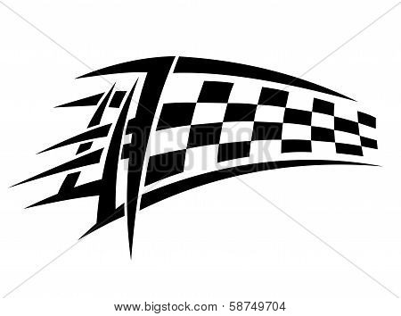 Racing tribal tattoo