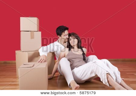 Young Couple Packing