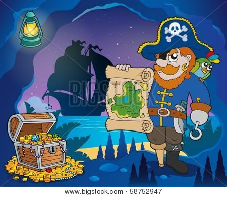 Pirate cove theme image 4 - eps10 vector illustration.