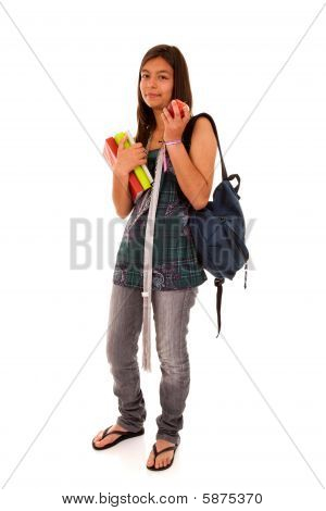 Teenager Ready To Go Back To School