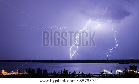 Lightning Over The River 4