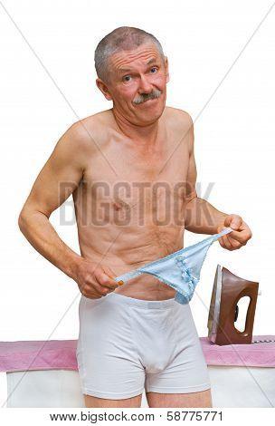Man At Skirt-board