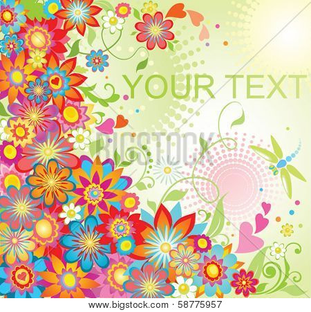 Summery colorful background