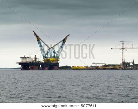 Plataforma de petróleo em Stavanger