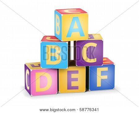 Vector A,B,C cubes pyramide