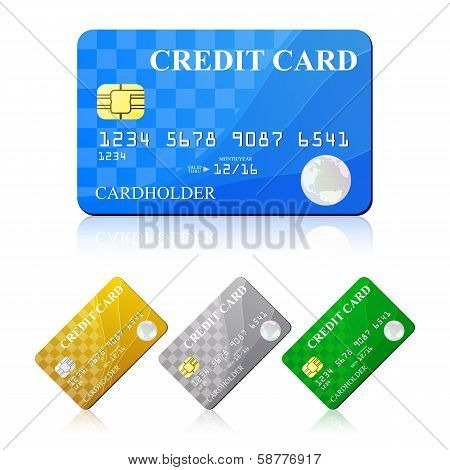 Credit Card Set. Vector illustration