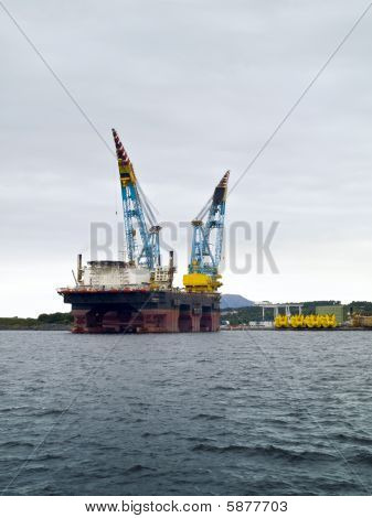 Oil Platform In Stavanger