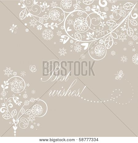 Beautiful vintage greeting card