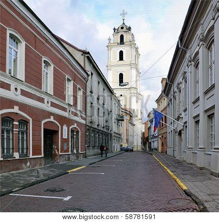St John Street At Vilnius