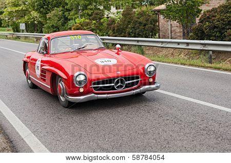Mercedes Benz 300 Sl W 198  In Mille Miglia 2013