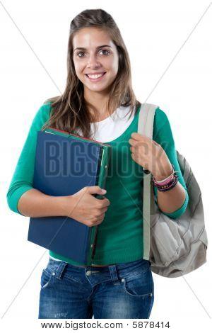 Happy Sutdent Girl