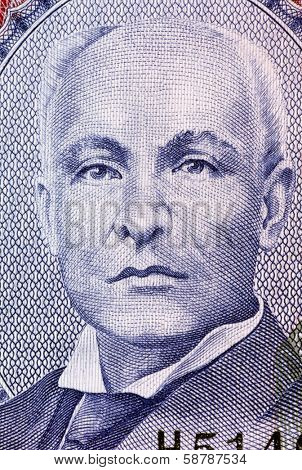 BARBADOS - CIRCA 2007: John Redman Bovell (1855-1928) on 2 Dollars 2007 Banknote from Barbados. Barbados superintendent of agriculture. His banana and sugar cane research buoyed Barbados economy.