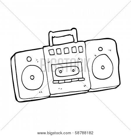 cartoon radio cassette player