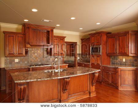 Luxury Home Dark Wood Kitchen