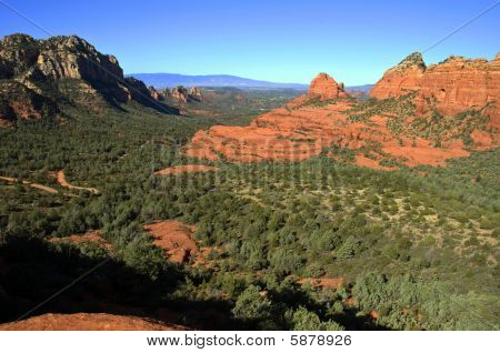 Scenic Red Stone Landscape Of Sedona, In Arizona