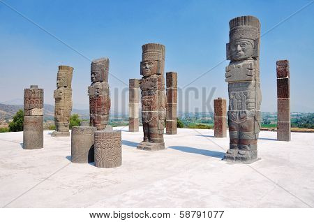 Toltec Sculptures In Tula