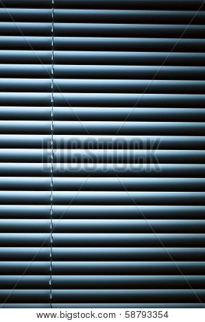 Venetian Blinds At Night