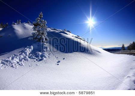 Snow on the rasos