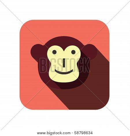 Monkey face flat design