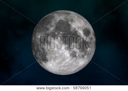Moon (In the image texture map used by NASA)