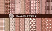 20 retro seamless patterns