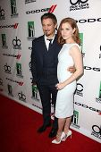 Jeremy Renner and Amy Adams at the 17th Annual Hollywood Film Awards Backstage, Beverly Hilton Hotel