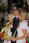 Anne McDaniels, Johnny Knoxville and Jessica Kinni at the