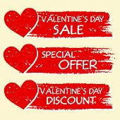 foto of special day  - valentines day sale and discount special offer  - JPG