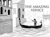 stock photo of gondola  - Venice canals - JPG