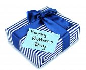 pic of stereotype  - Happy Fathers Day tag with gift box - JPG