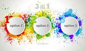 stock photo of paint palette  - Vector Graphic Design Button and Labels Template - JPG