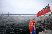 The Oresund  Bridge Between Denmark And Sweden