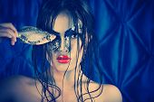 picture of undine  - Portrait of an asian model with fantasy make - JPG