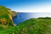 pic of cliffs moher  - Cliffs of Moher at sunset - JPG