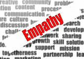 stock photo of empathy  - Empathy word cloud image with hi - JPG