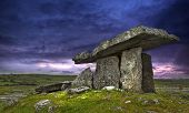 foto of ireland  - Ancient ruins in the field in Ireland - JPG