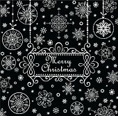 Christmas greeting card (black and white)