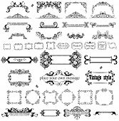 stock photo of marriage decoration  - Retro heading and frames - JPG
