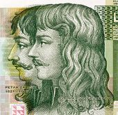 CROATIA - CIRCA 2001: Petar Zrinski (1621-1671) and Fran Krsto Frankopan (1643-1771) on 5 Kuna 2001