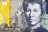 AUSTRALIA - CIRCA 2007: Mary Gilmore (1865-1962) on 10 Dollars 2007 Banknote from Australia. Austral