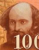 FRANCE - CIRCA 1997: Paul Cezanne (1839-1906) on 100 Francs 1997 Banknote from France. Influential F