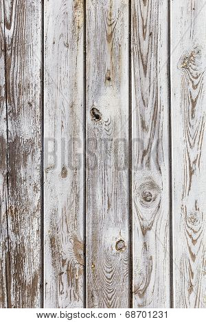Wall Wooden Planks Painted Grey White