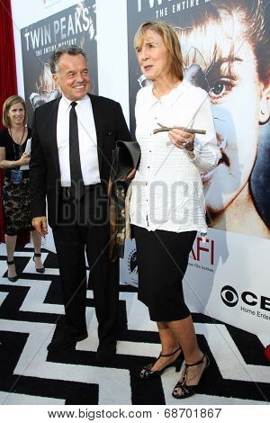 LOS ANGELES - JUL 16:  Ray Wise, Catherine E. Coulson at the 'Twin Peaks - The Entire Mystery' Blu-Ray/DVD Release Party And Screening at the Vista Theater on July 16, 2014 in Los Angeles, CA