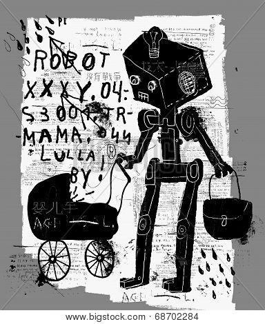 Robot With A Pram