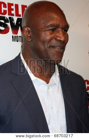 LOS ANGELES - JUL 16:  Evander Holyfield at the ESPYs AfterShow Dinner Party at the Palm Resturant on July 16, 2014 in Los Angeles, CA