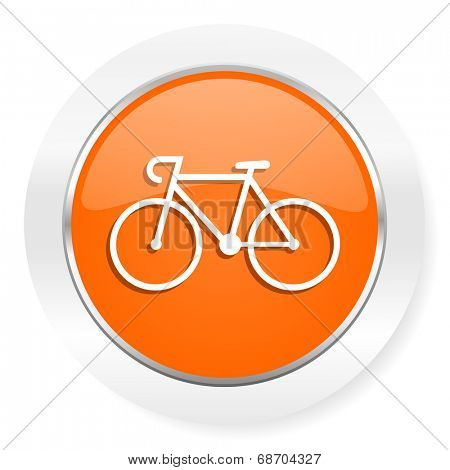 bicycle orange computer icon