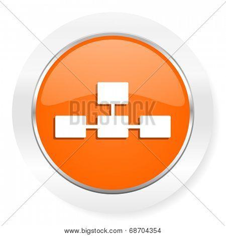 database orange computer icon