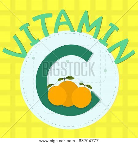 Colorful Design Of Vitamin C